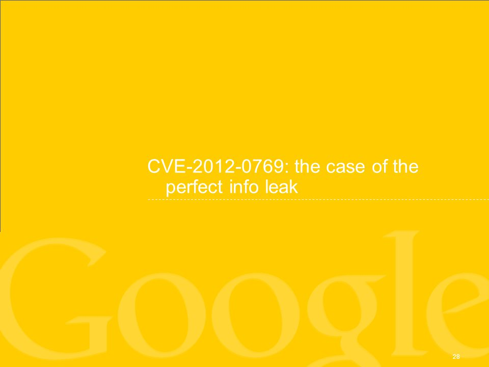CVE-2012-0769: the case of the perfect info leak