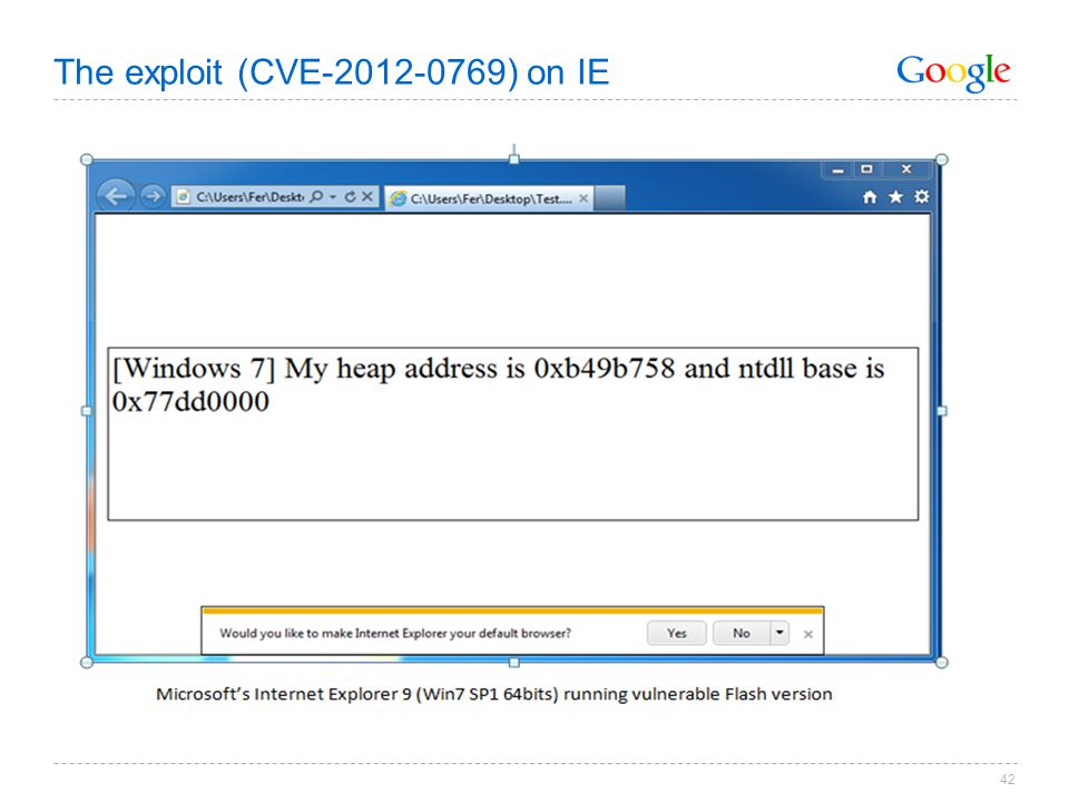 The exploit (CVE-2012-0769) on IE