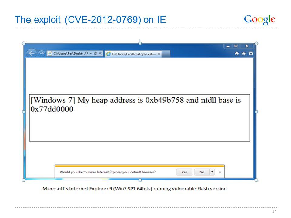 The exploit (CVE-2012-0769) on IE