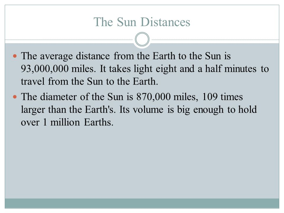 Brandon Houston The Sun Distances.