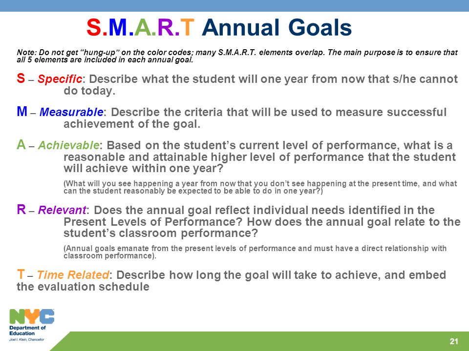 s m a r t goals A goal is something that you are willing to work for you can get what you want by  planning and following the plan setting achievable—and smart—goals is.