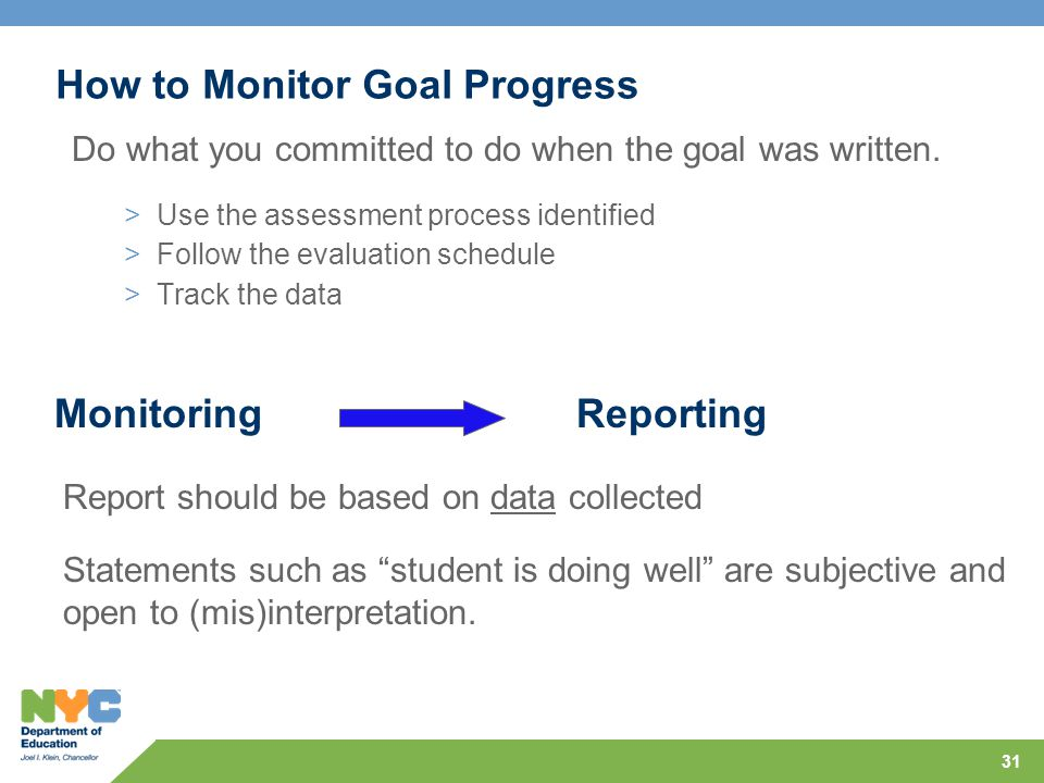 How to Monitor Goal Progress
