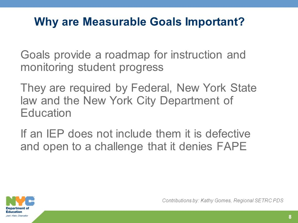 Why are Measurable Goals Important