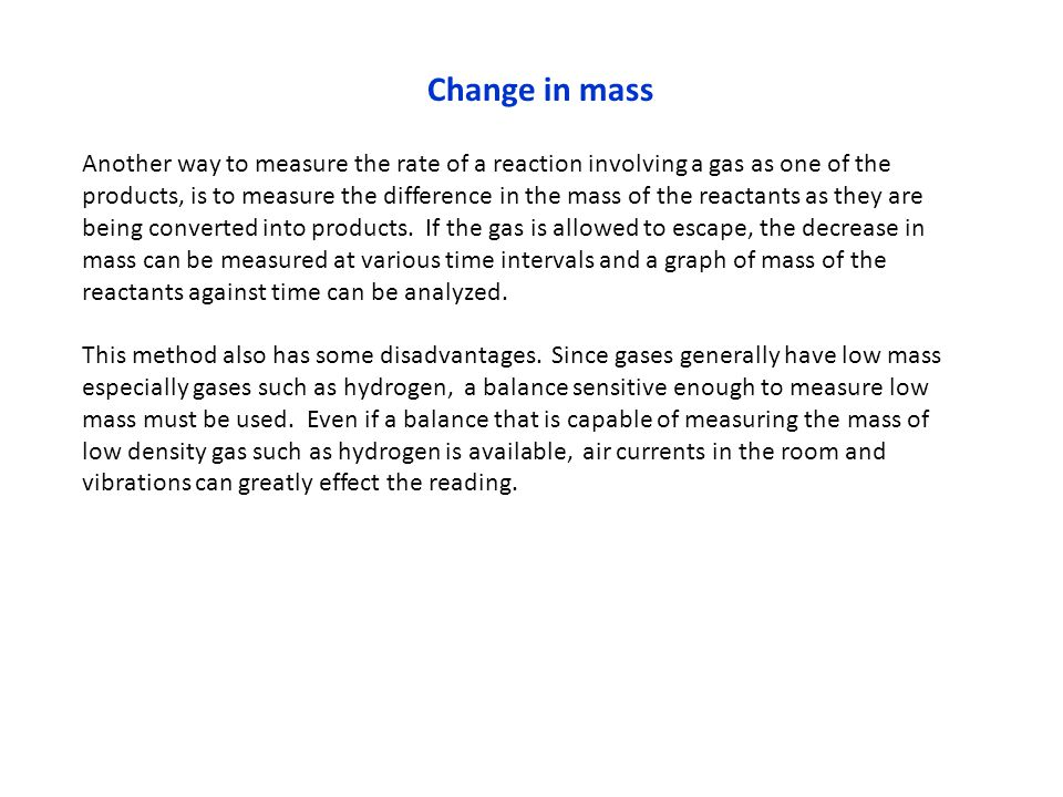 Change in mass