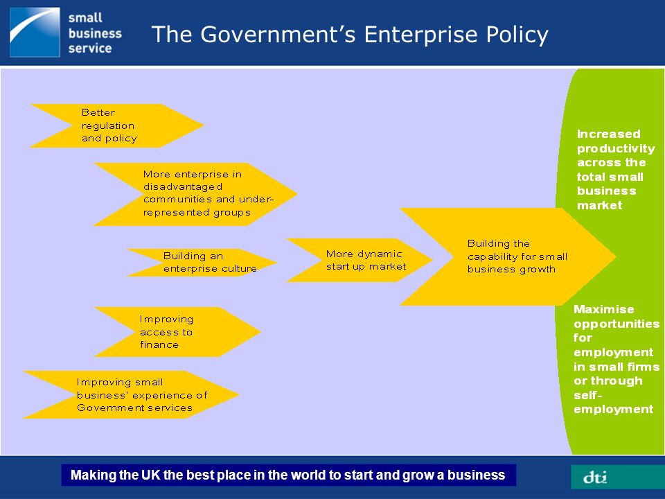 The Government's Enterprise Policy