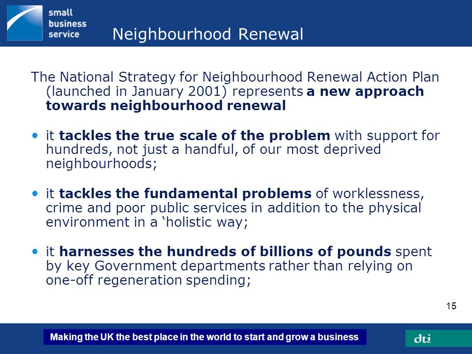 Neighbourhood Renewal