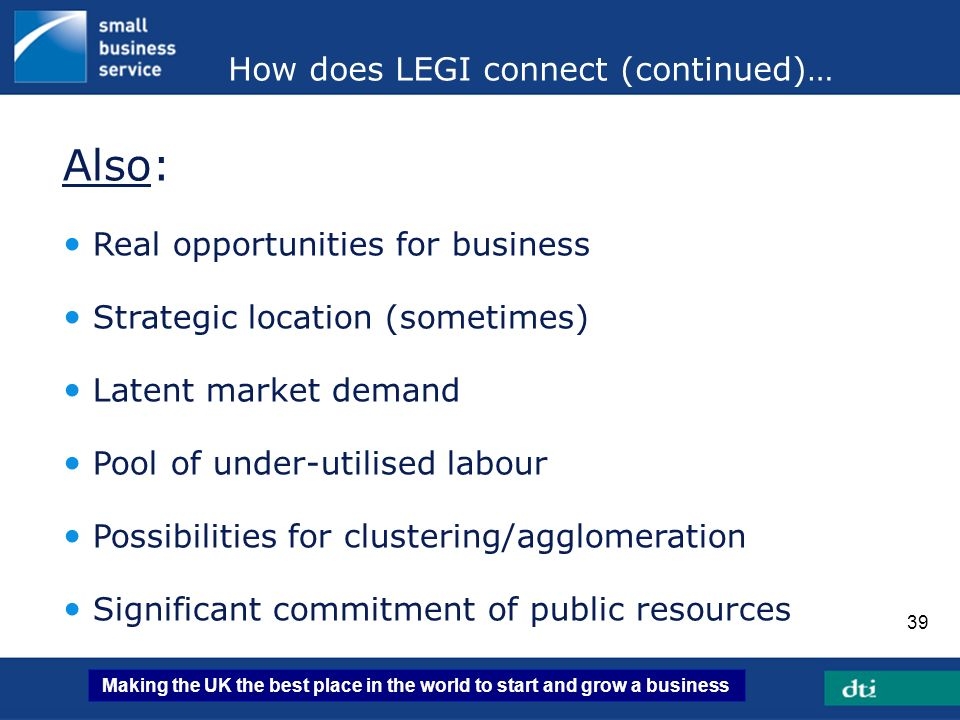How does LEGI connect (continued)…