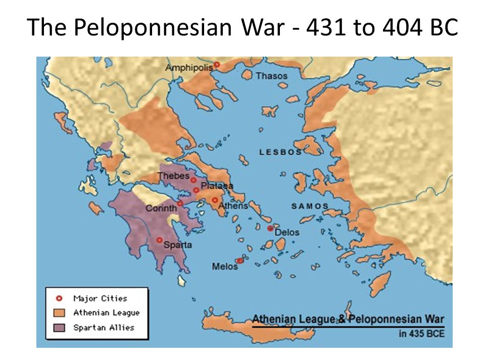 The Peloponnesian War - 431 to 404 BC