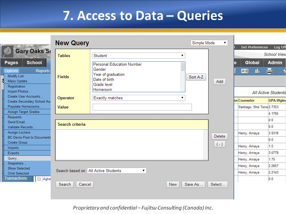 7. Access to Data – Queries