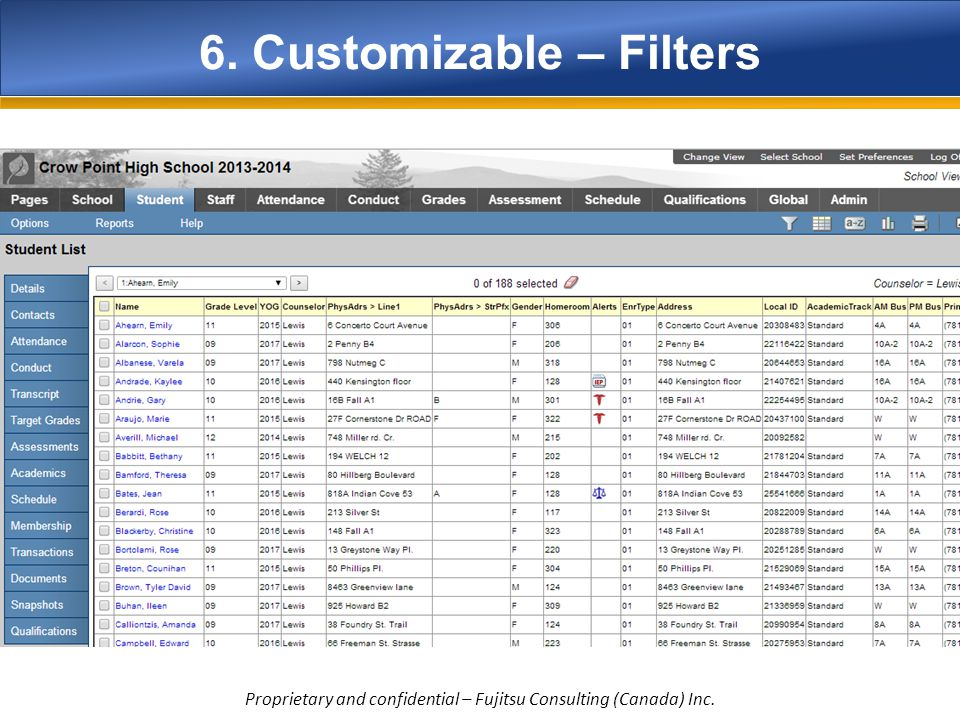 6. Customizable – Filters