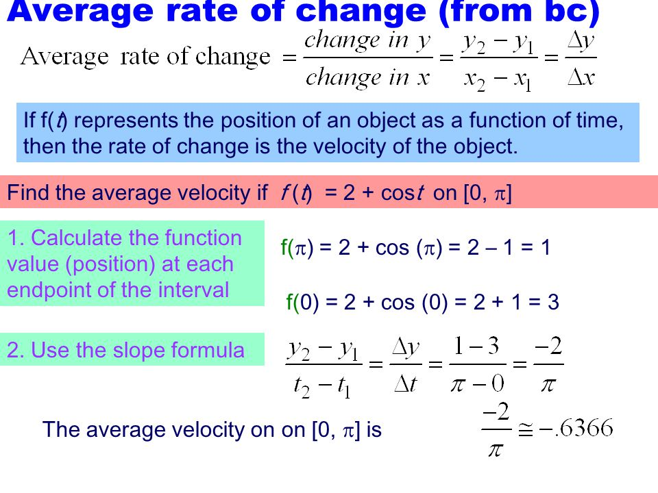 Average rate of change (from bc)