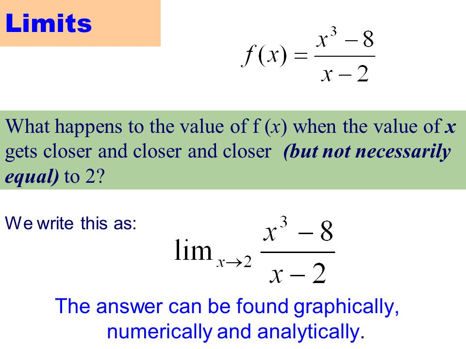 The answer can be found graphically, numerically and analytically.