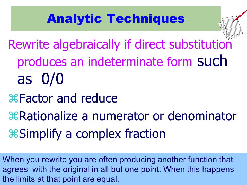 Rationalize a numerator or denominator Simplify a complex fraction
