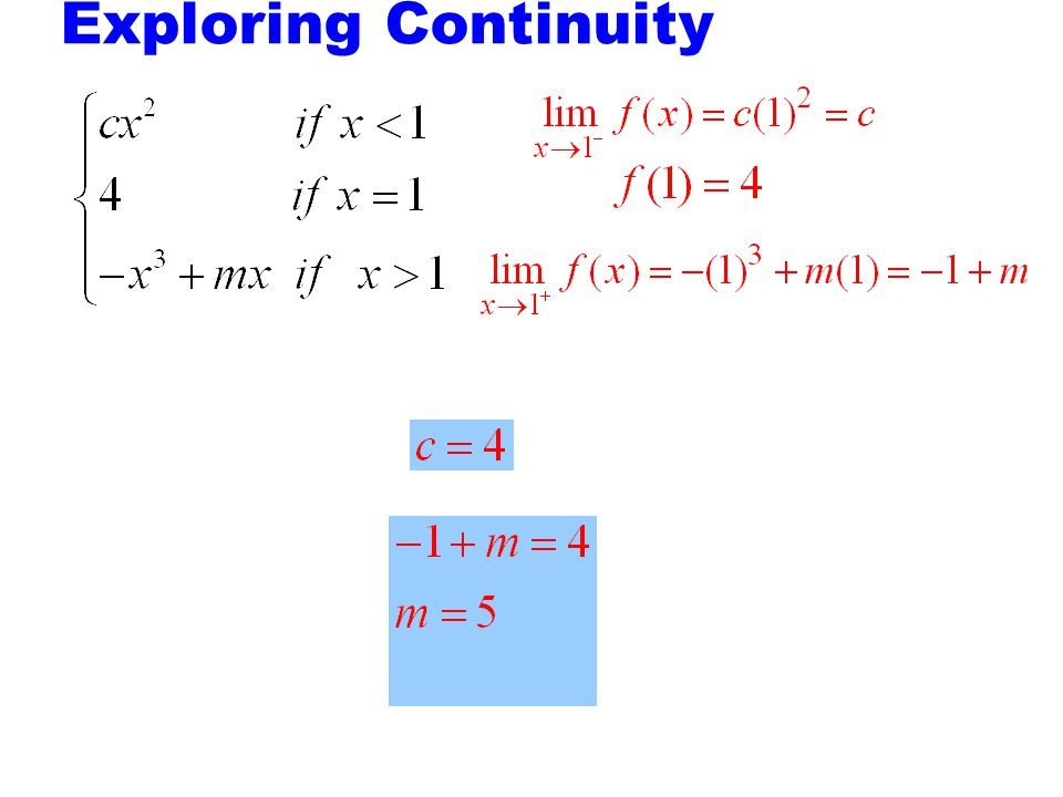 Exploring Continuity