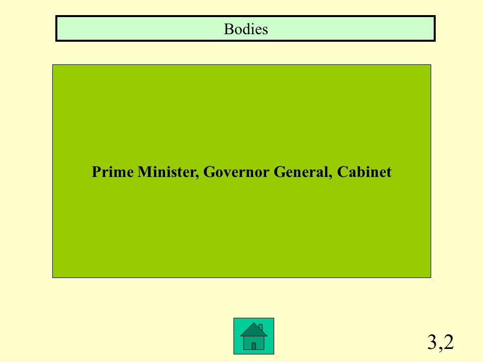Prime Minister, Governor General, Cabinet
