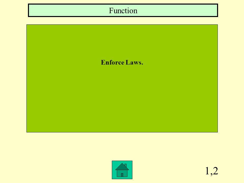 Function Enforce Laws. 1,2