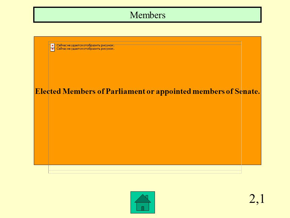 Elected Members of Parliament or appointed members of Senate.