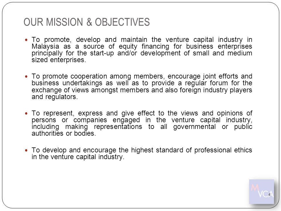 OUR MISSION & OBJECTIVES