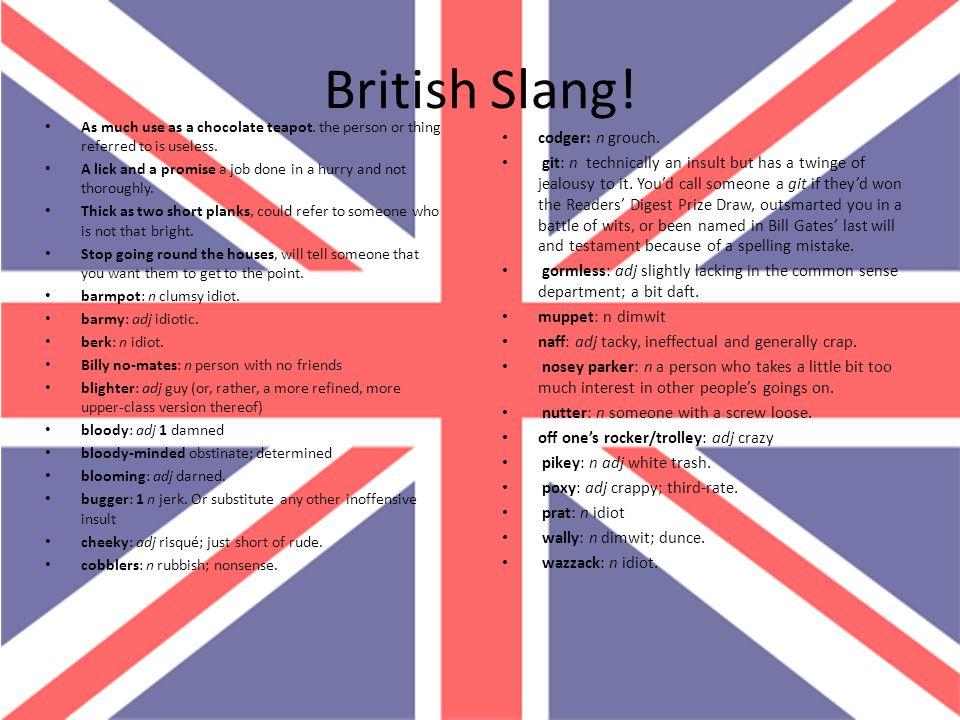 British Slang! codger: n grouch.
