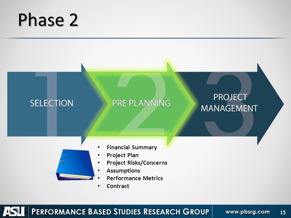 Phase 2 Financial Summary Project Plan Project Risks/Concerns