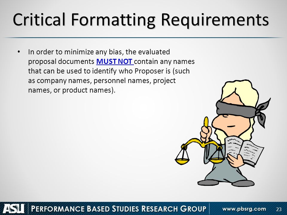 Critical Formatting Requirements