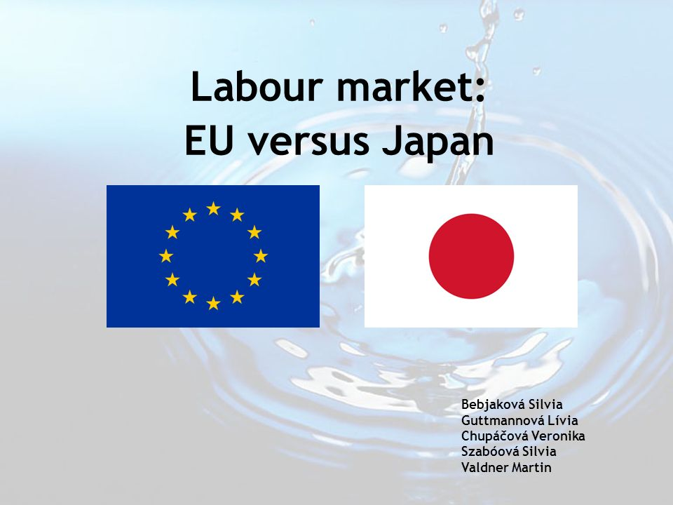Labour market: EU versus Japan