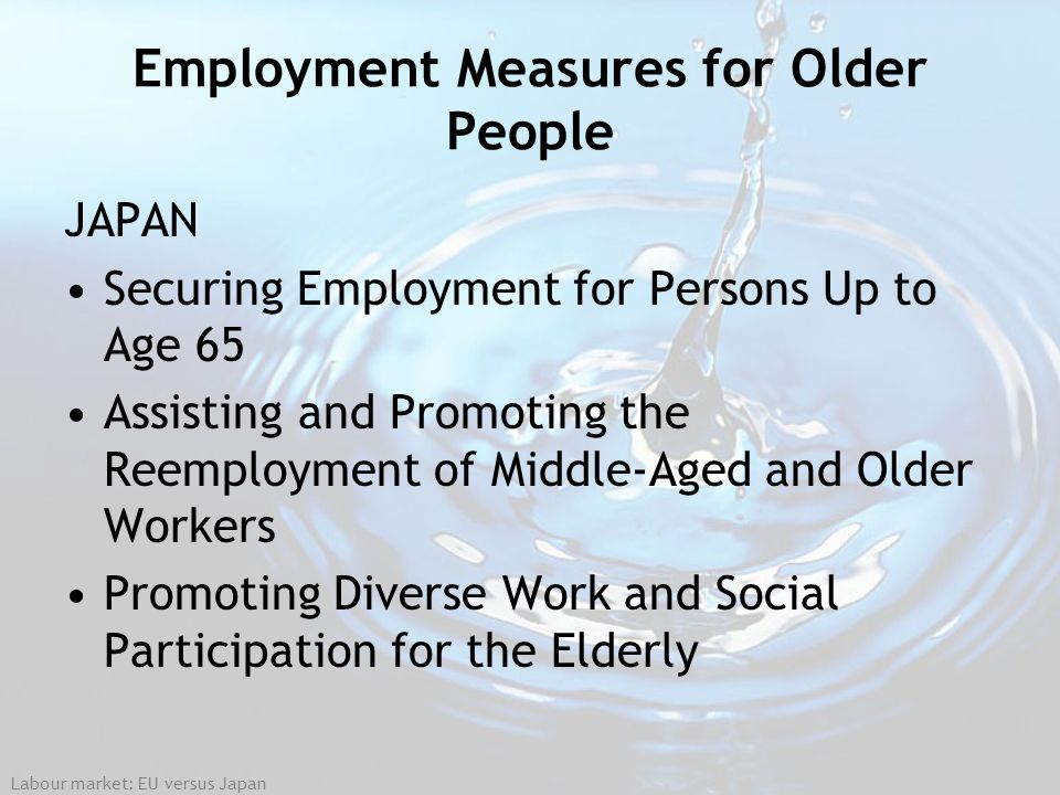 Employment Measures for Older People