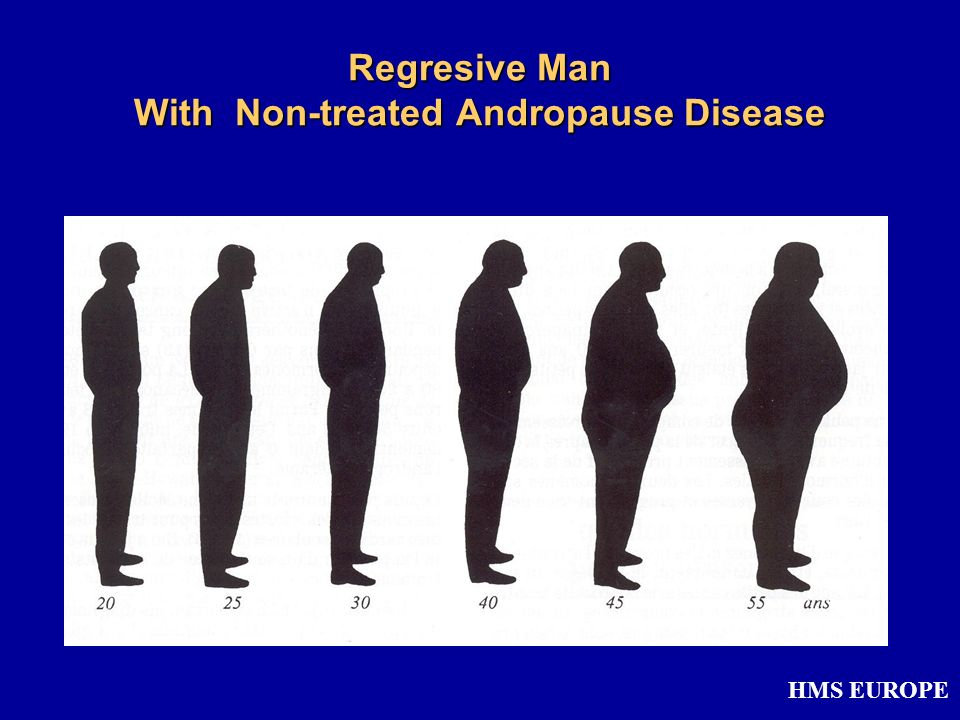 Regresive Man With Non-treated Andropause Disease