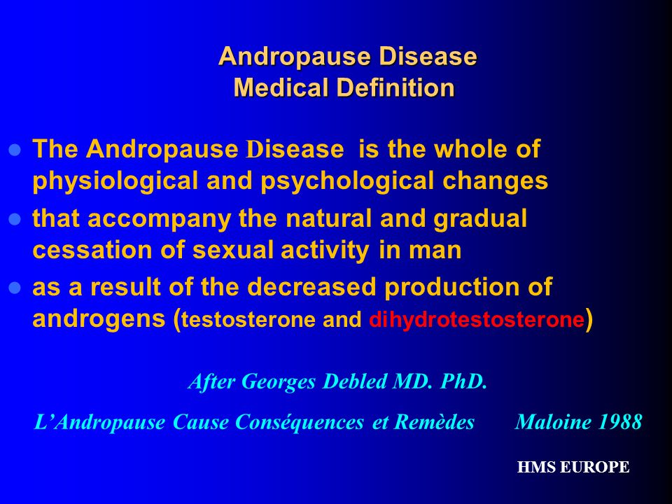 Andropause Disease Medical Definition