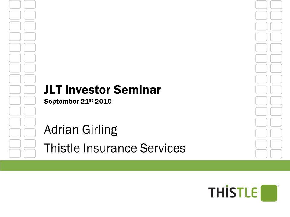 JLT Investor Seminar September 21st 2010