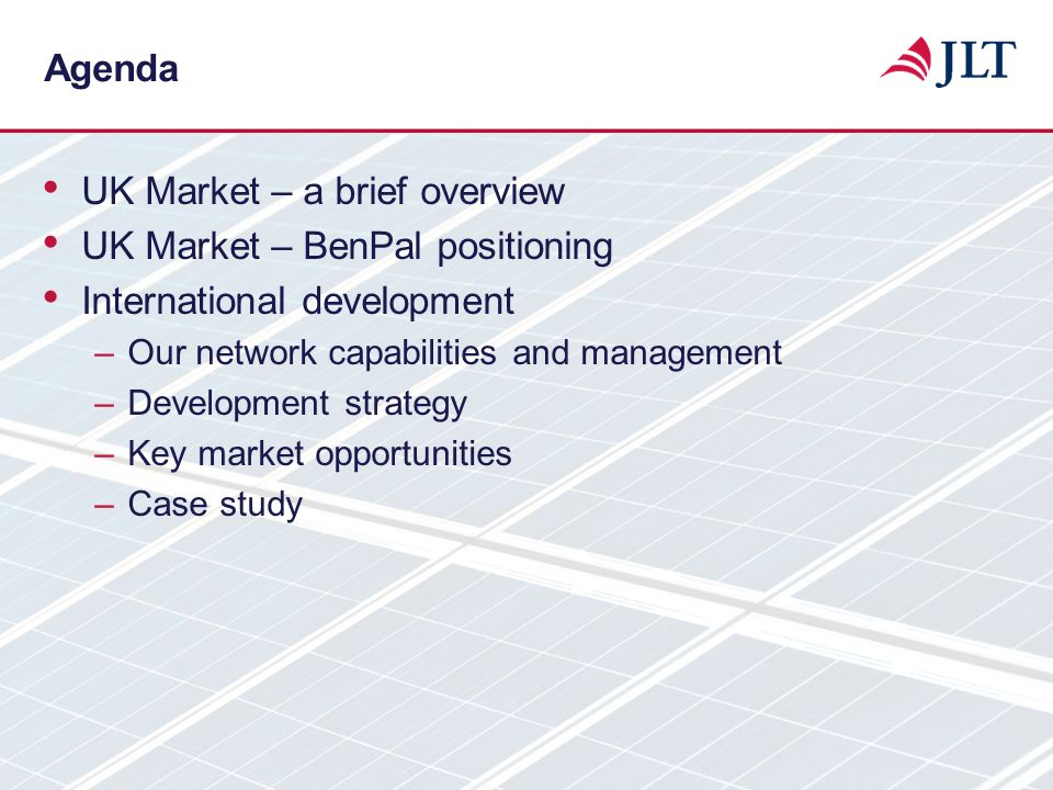 UK Market – a brief overview UK Market – BenPal positioning