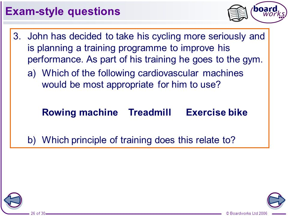 Exam-style questions
