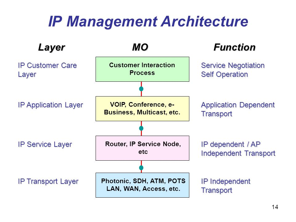 IP Management Architecture