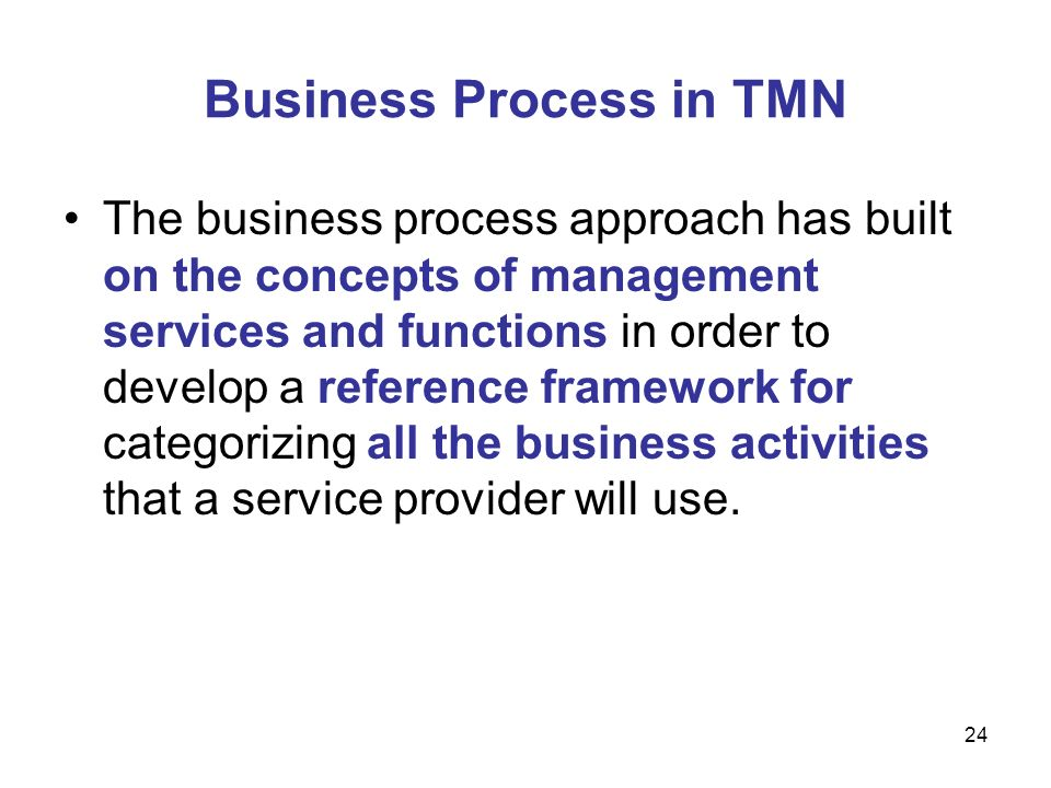 Business Process in TMN