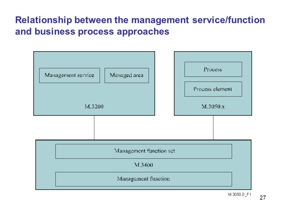 Relationship between the management service/function and business process approaches