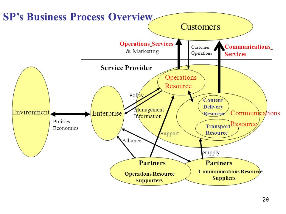 SP's Business Process Overview