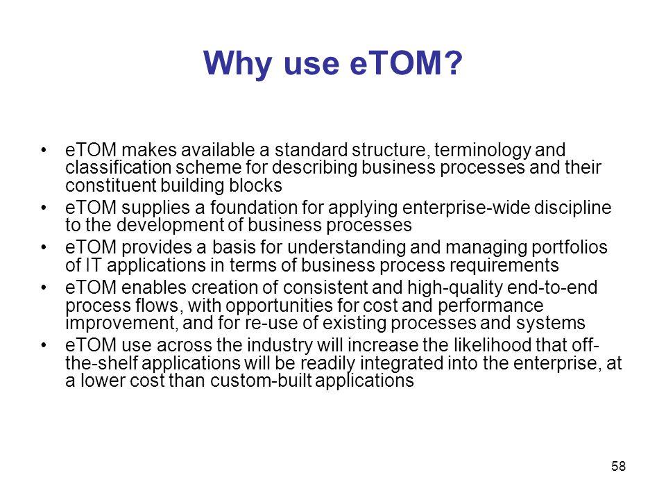 Why use eTOM