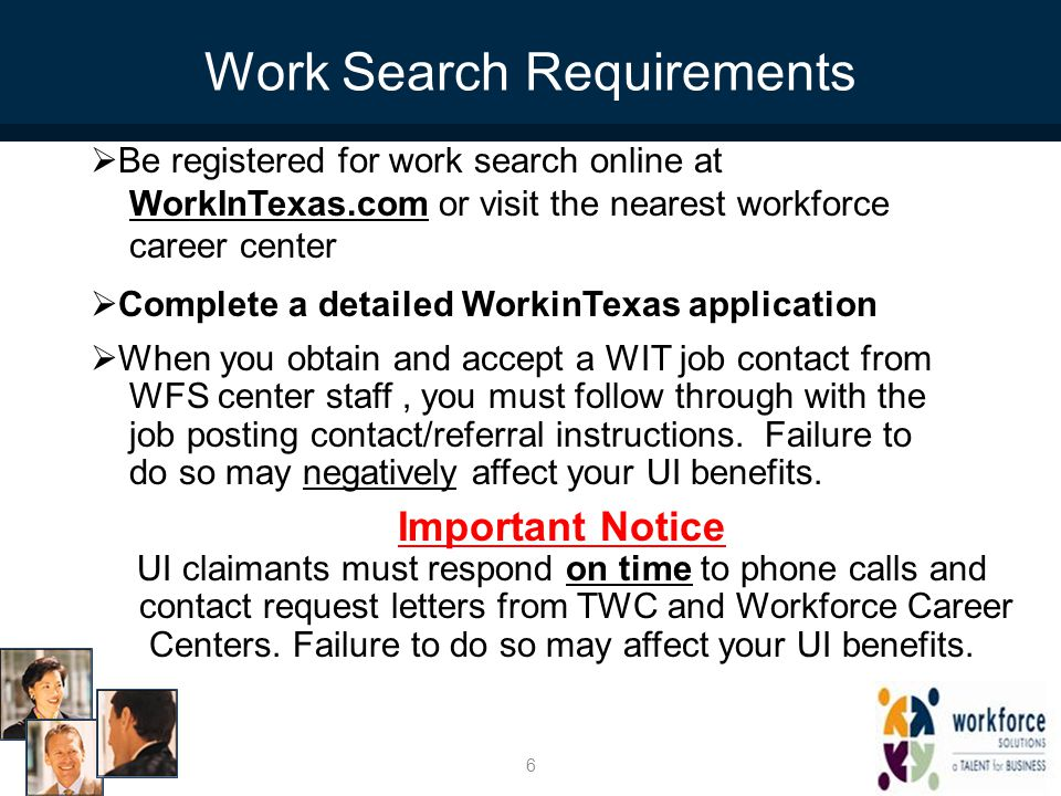 Work Search Requirements