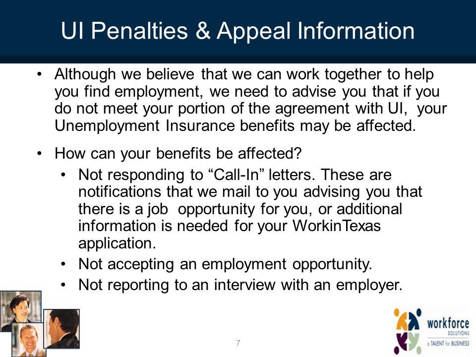 UI Penalties & Appeal Information