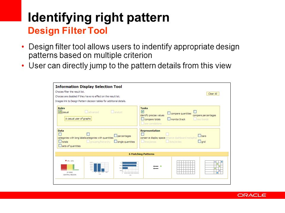 Identifying right pattern Design Filter Tool