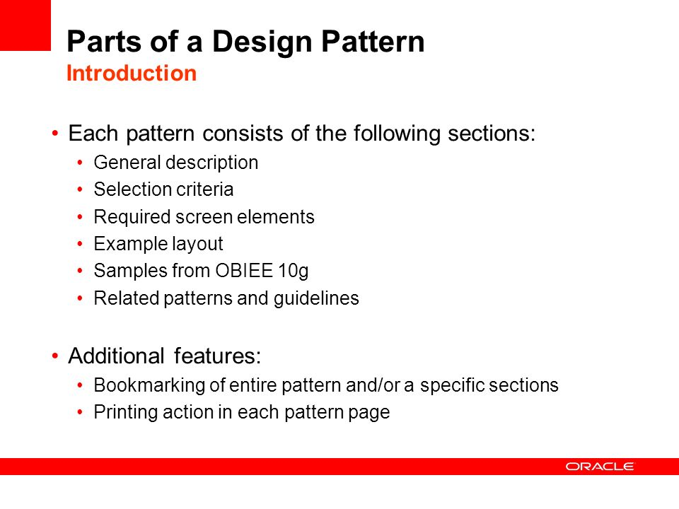 Parts of a Design Pattern Introduction