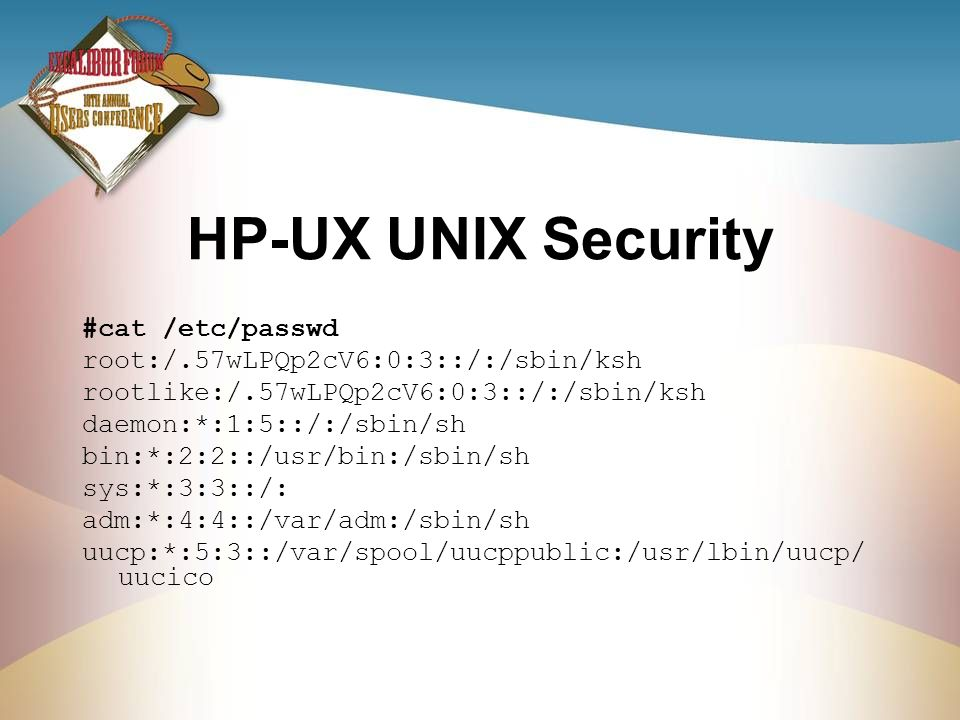 HP-UX UNIX Security #cat /etc/passwd