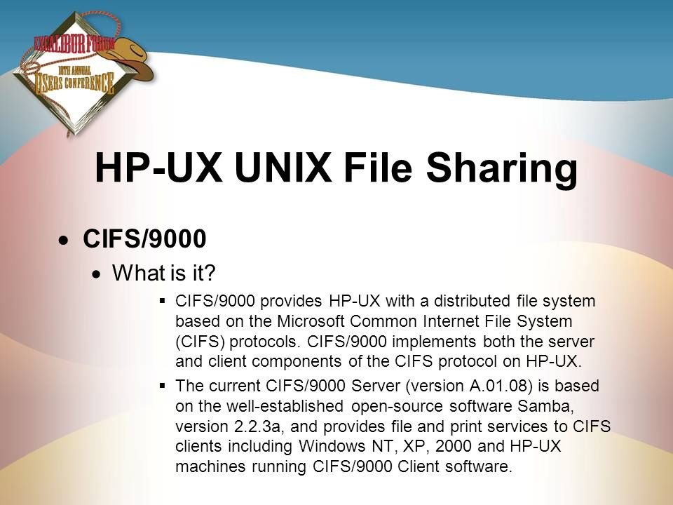 HP-UX UNIX File Sharing