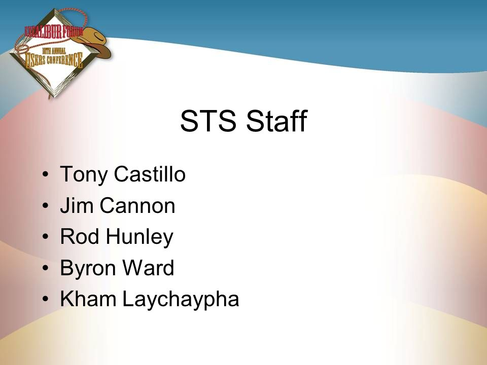 STS Staff Tony Castillo Jim Cannon Rod Hunley Byron Ward