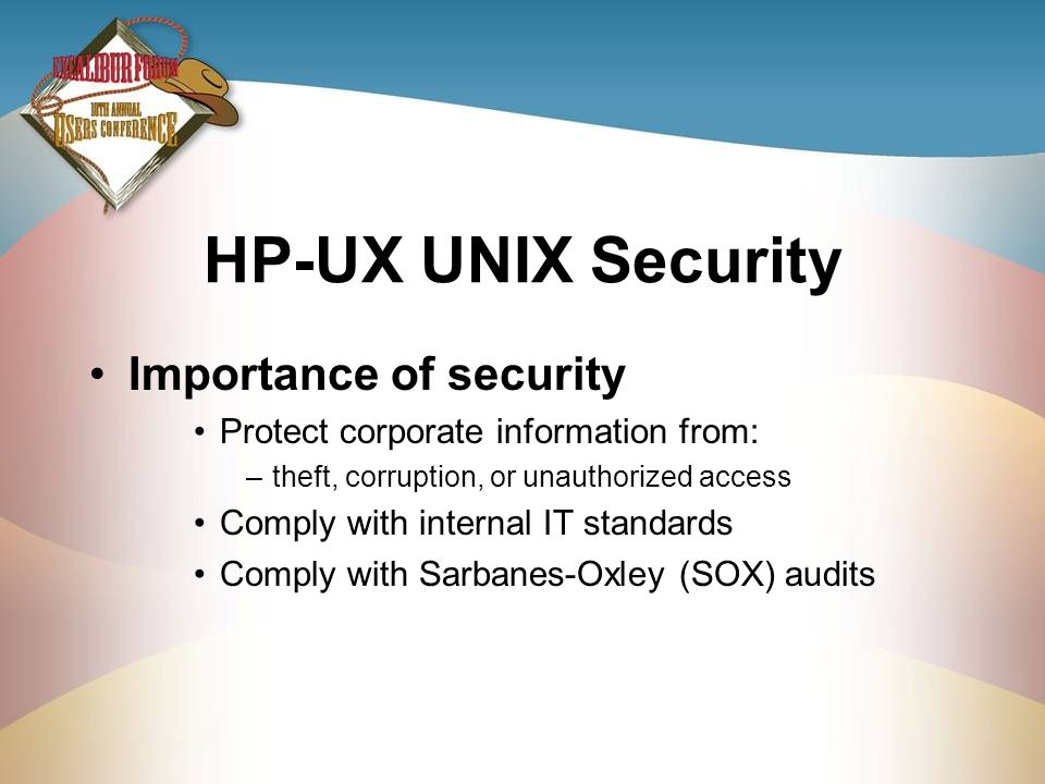HP-UX UNIX Security Importance of security