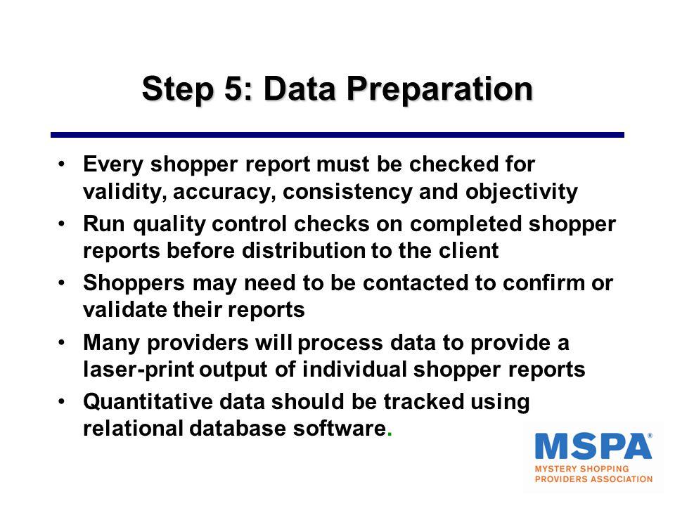 Step 5: Data Preparation
