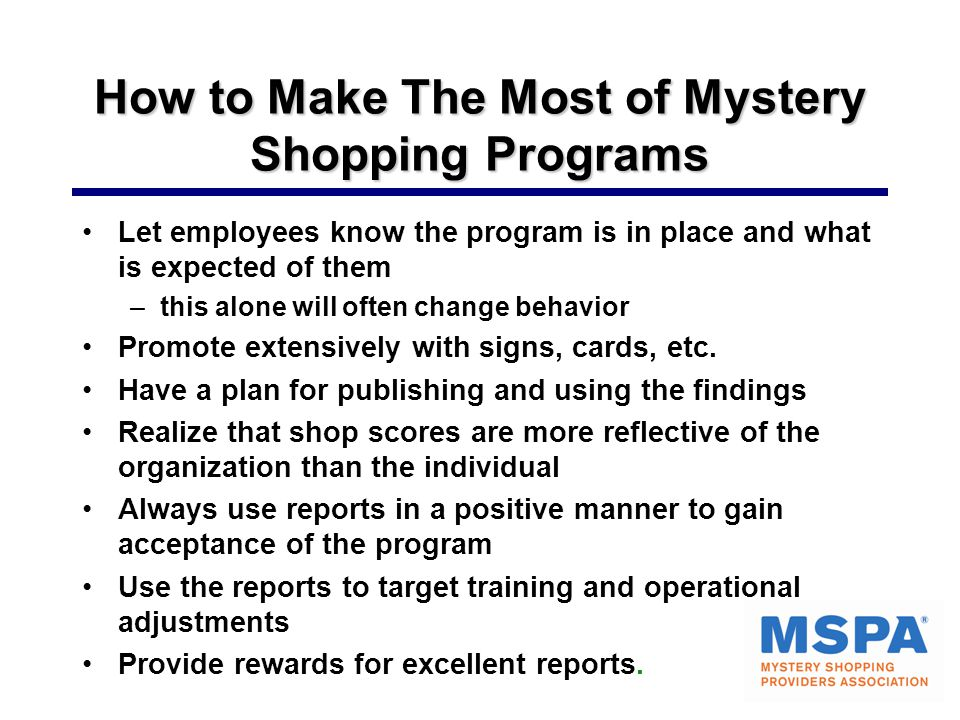 How to Make The Most of Mystery Shopping Programs