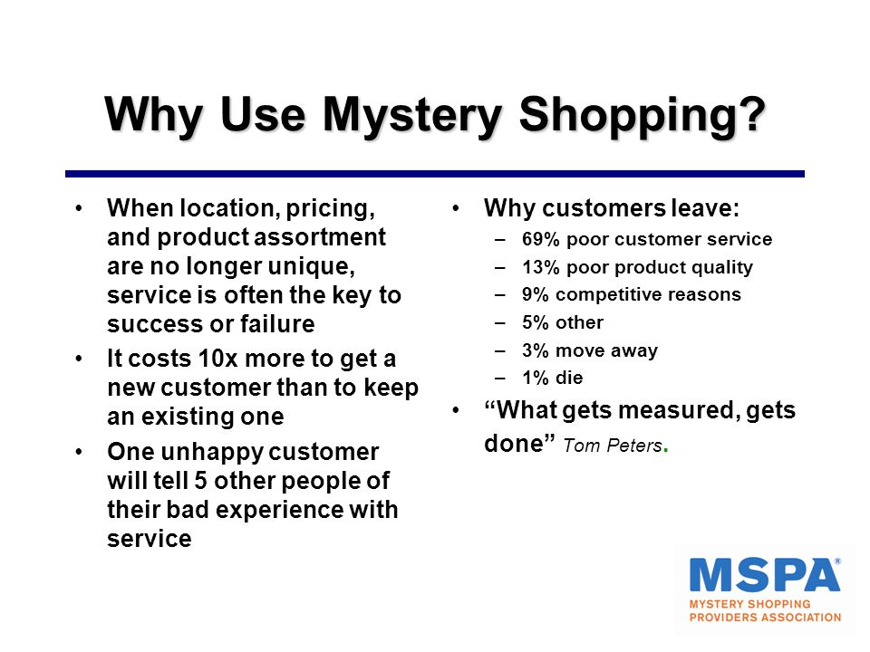 Why Use Mystery Shopping