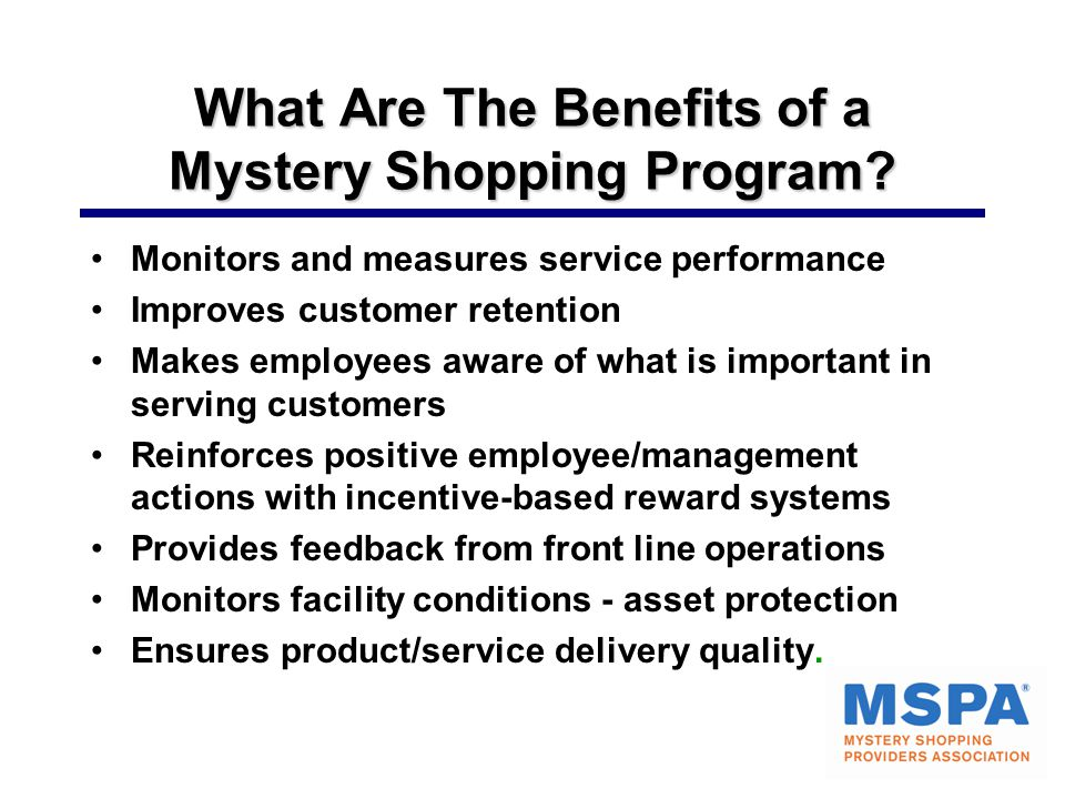 What Are The Benefits of a Mystery Shopping Program