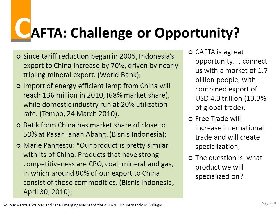CAFTA: Challenge or Opportunity